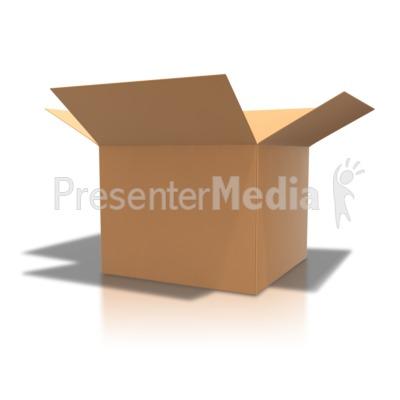 Brown Cardboard Box Open Presentation clipart