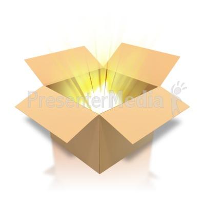 Brown Cardboard Box Light Presentation clipart