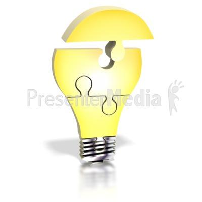 Light Bulb Puzzle Assemble Presentation clipart