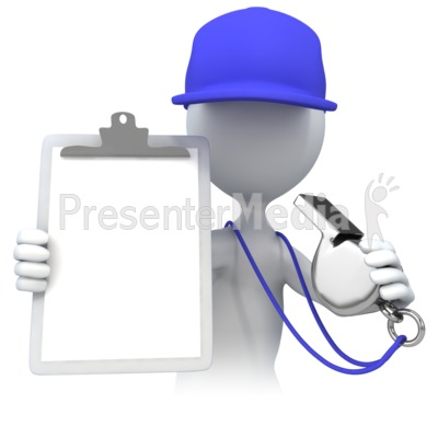 Coach With Clipboard Presentation clipart