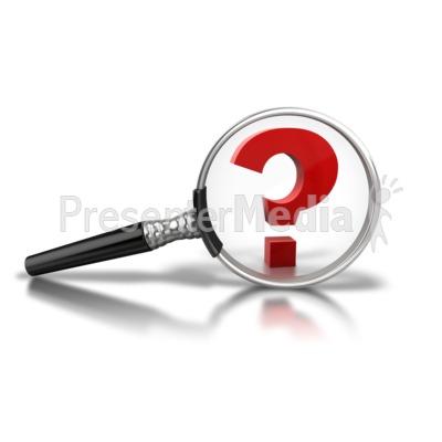 Magnify Question Mark Presentation clipart