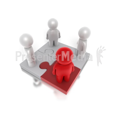 Four Way Puzzle People Presentation clipart