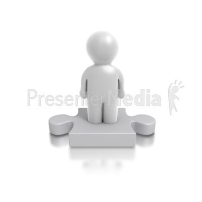 Single Puzzle Person Presentation clipart