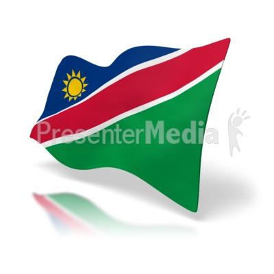 Namibia Flag Presentation clipart