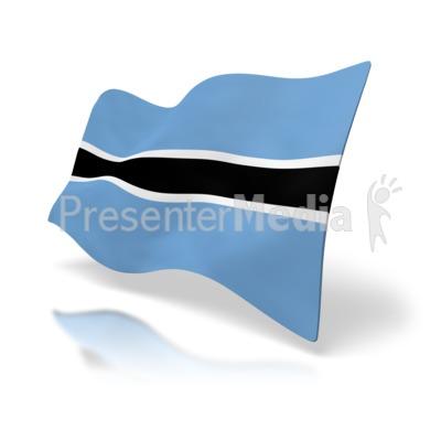 Botswana Flag Presentation clipart