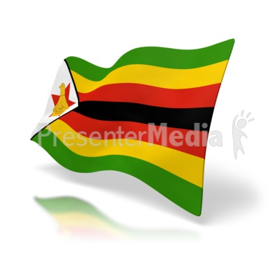 Zimbabwe Flag Presentation clipart