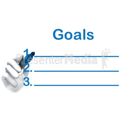 Write Your Goals Here Presentation clipart