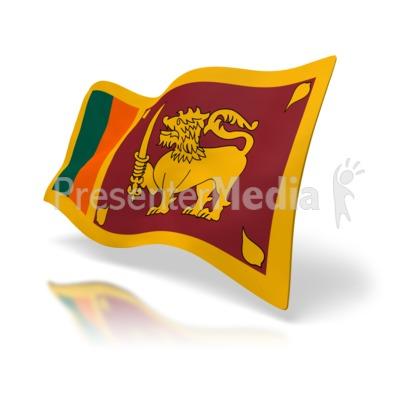 Sri Lanka Flag Presentation clipart