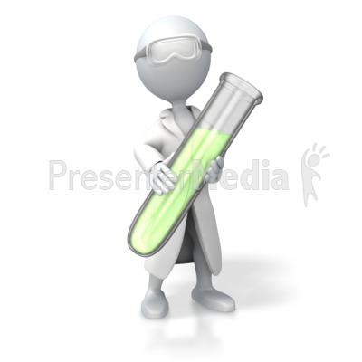 Scientist Test Tube Presentation clipart