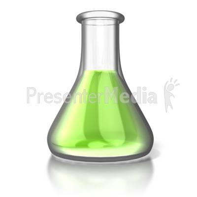 Single Chemistry Flask Presentation clipart
