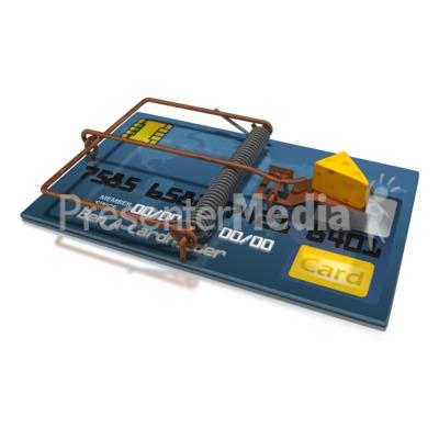 Credit Card Cheese Trap Presentation clipart