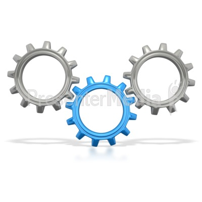 Three Gears Connected Presentation clipart