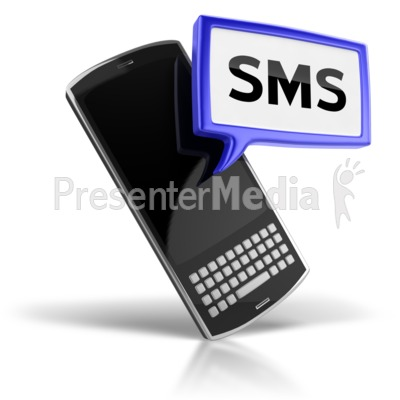 SMS Text Messaging Icon Presentation clipart