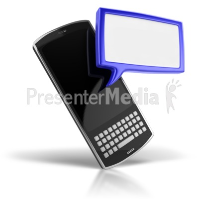 Your Text Messaging Phone Presentation clipart
