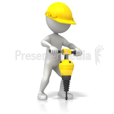 Construction Jackhammer Presentation clipart