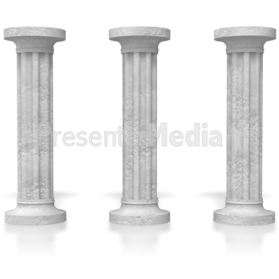 Three pillars signs and symbols great clipart for presentations three pillars powerpoint clip art toneelgroepblik Image collections