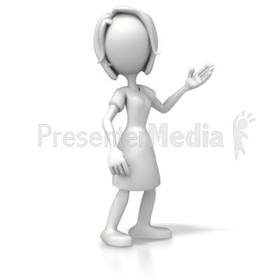 Woman Casual Pose 2 Presentation clipart