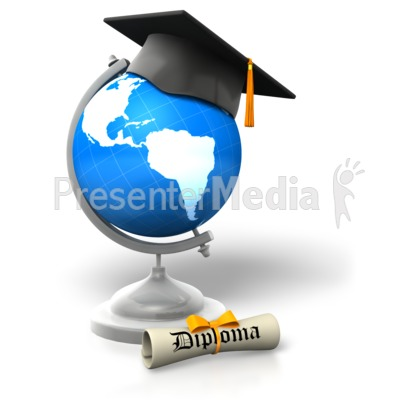 Global Degree Educated Presentation clipart