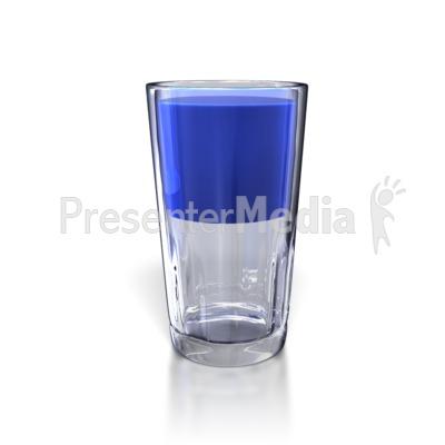 Glass Half Full Presentation clipart