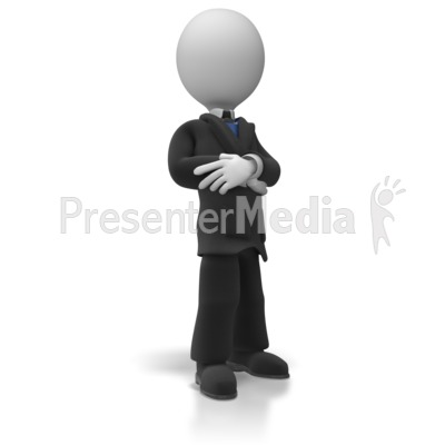 Business Man Pose Presentation clipart