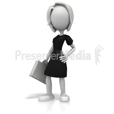 Business Woman Pose Presentation clipart