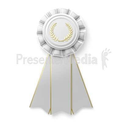 White ribbon sports and recreation great clipart for for Honorable mention certificate template