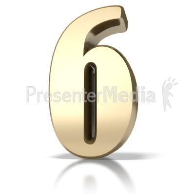 Gold Six Presentation clipart