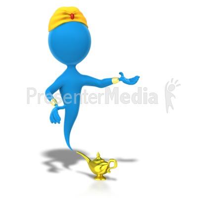 Genie presentation side presentation clipart