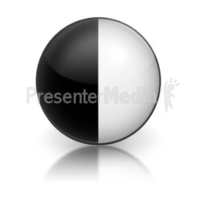 Harvey Ball Numberic six Representation Presentation clipart