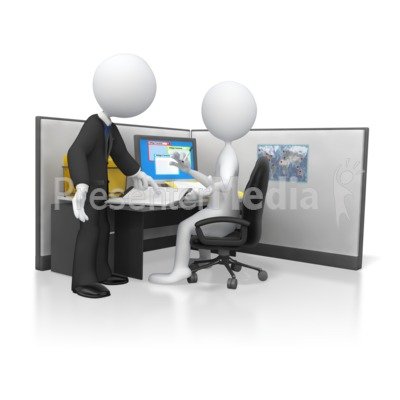Boss Giving Direction on Employees Work Presentation clipart