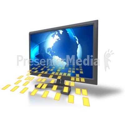 Computer Monitor Data Presentation clipart