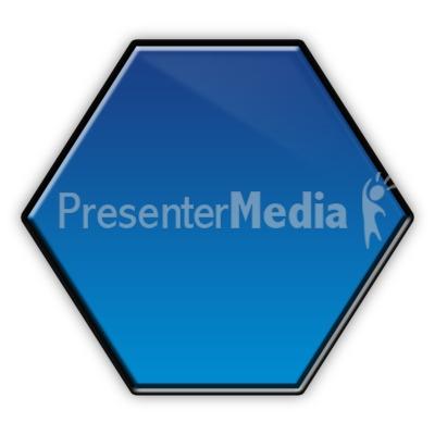 Hexagon Flow Chart Symbol Presentation clipart