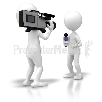 News Crew Reporter Presentation clipart
