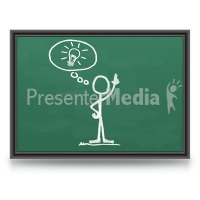 Chalk Figure Light bulb Idea Presentation clipart