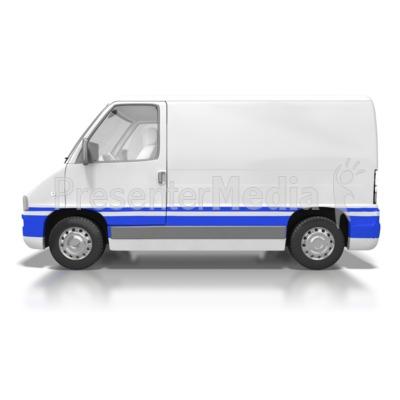 Cargo Van Presentation clipart