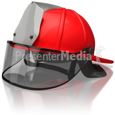 Firefighter Helmet Presentation clipart