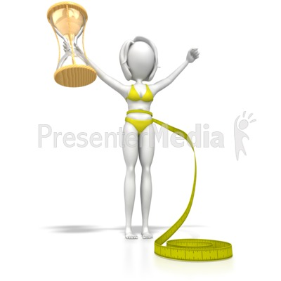 Lose Weight In No Time Woman Presentation clipart