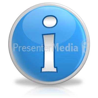 Information Button Symbol Icon Presentation clipart