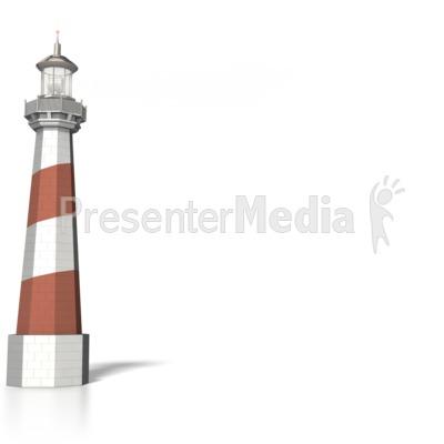 Lighthouse with light Signal beam Presentation clipart