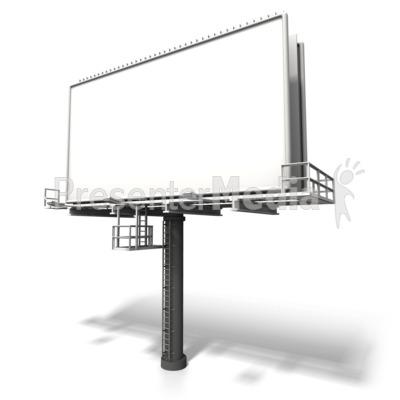 Angled Billboard Display Presentation clipart