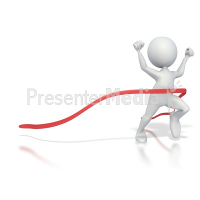 Stick Figure Race Finish Presentation clipart