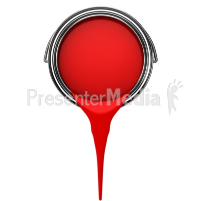 Can Pouring Paint Presentation clipart