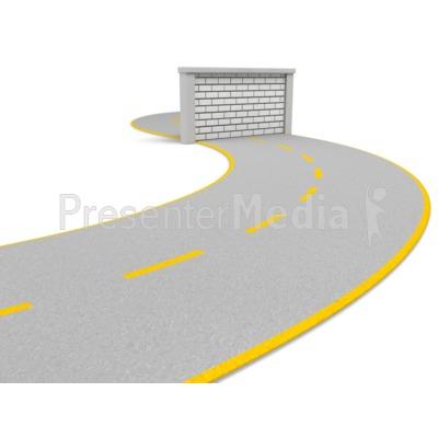 Road Block Wall Presentation clipart