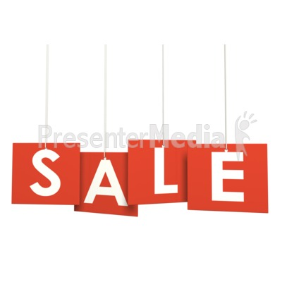 Multi Level Sign Sale Presentation clipart