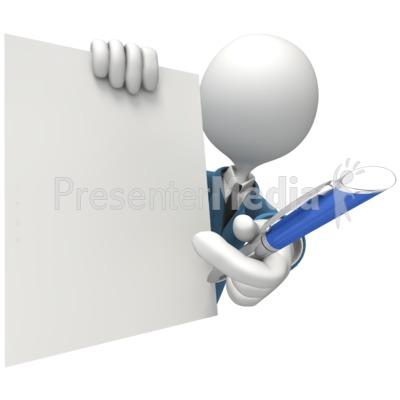 Blank Document Signature Pen Presentation clipart