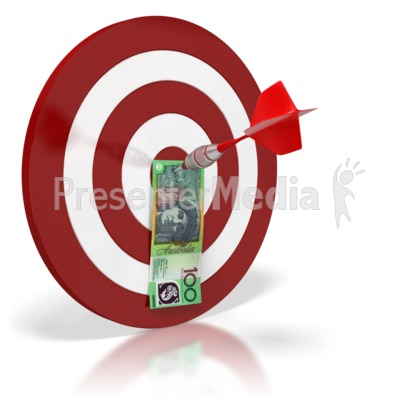 Australian Bullseye Money  Presentation clipart