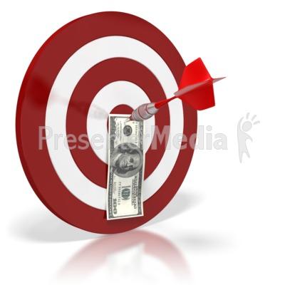 Bullseye Money Dollar Presentation clipart