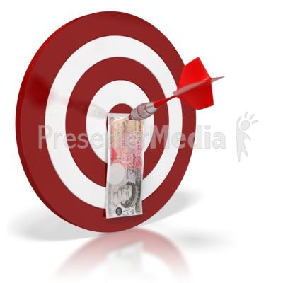 British Pound Bullseye Money Presentation clipart