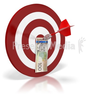Canadian Bullseye Money Presentation clipart