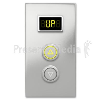 Elevator Button Up Presentation clipart